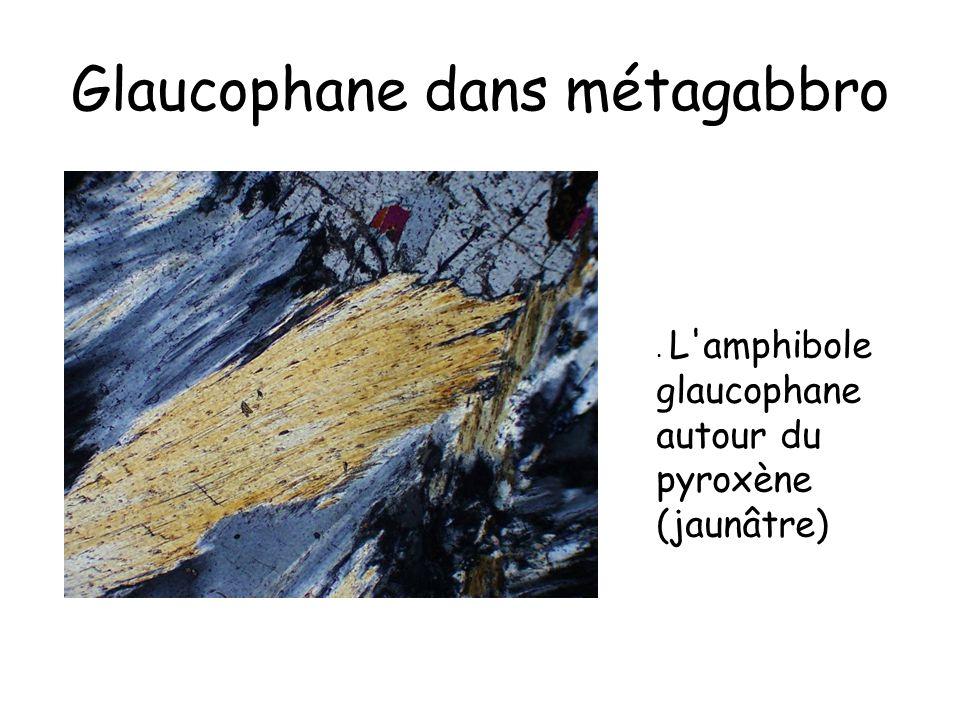 Glaucophane dans métagabbro
