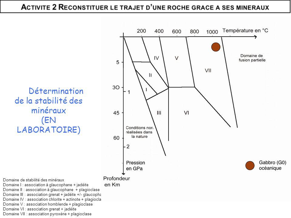 Détermination de la stabilité des minéraux