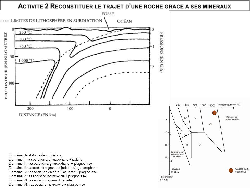 Domaine de stabilité des minéraux