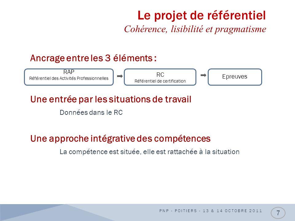Le projet de référentiel Cohérence, lisibilité et pragmatisme