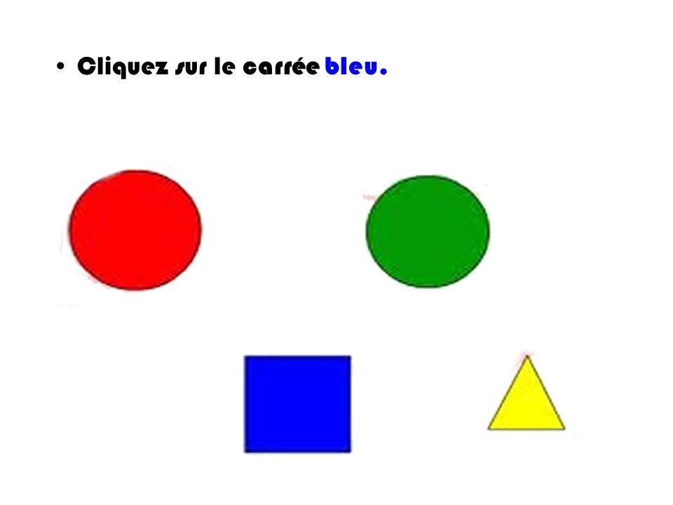 Cliquez sur le carrée bleu.