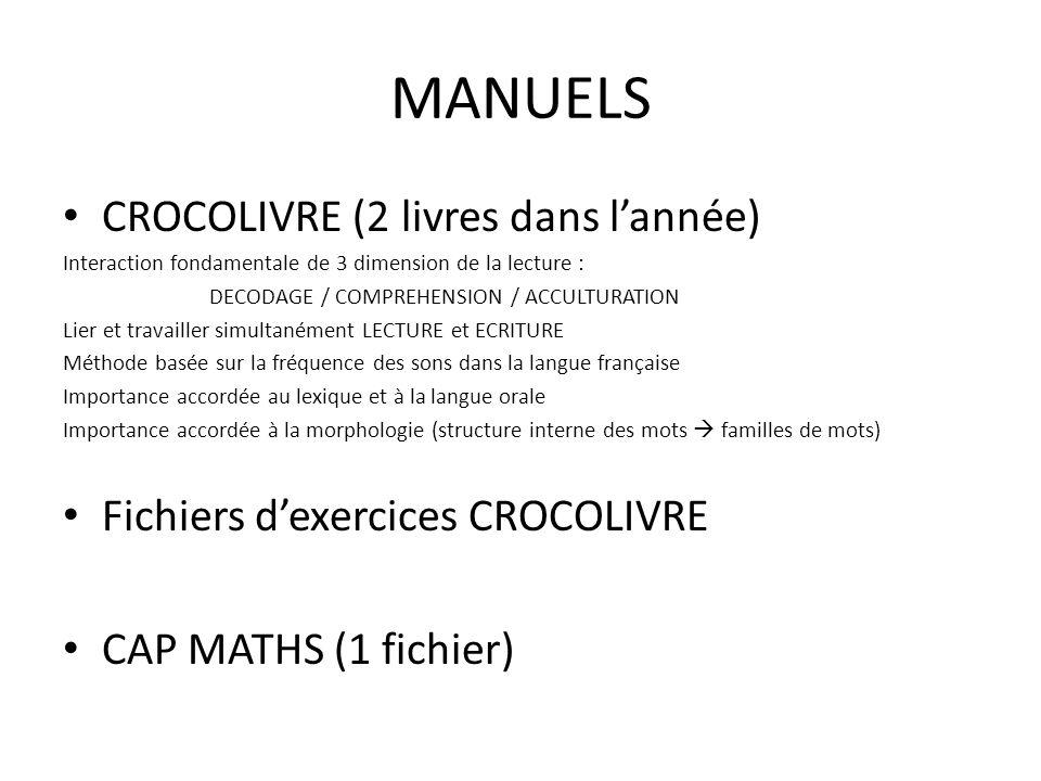 MANUELS CROCOLIVRE (2 livres dans l'année)