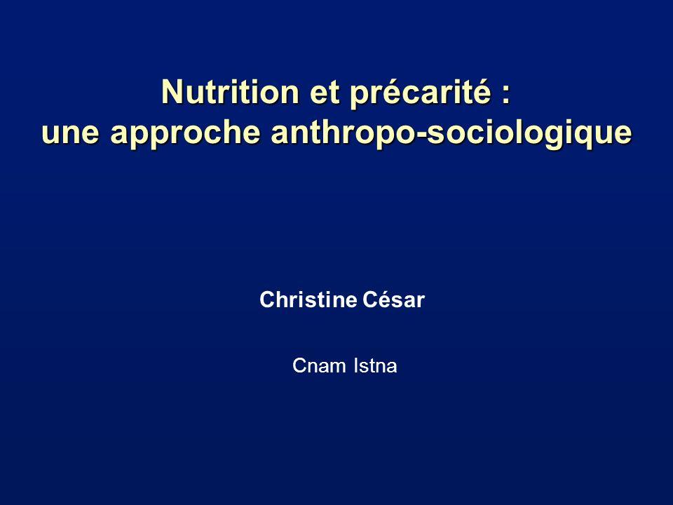 Nutrition et précarité : une approche anthropo-sociologique