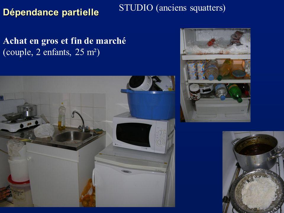 Dépendance partielle STUDIO (anciens squatters) Achat en gros et fin de marché.