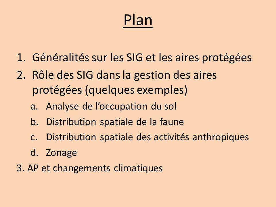 Plan Généralités sur les SIG et les aires protégées