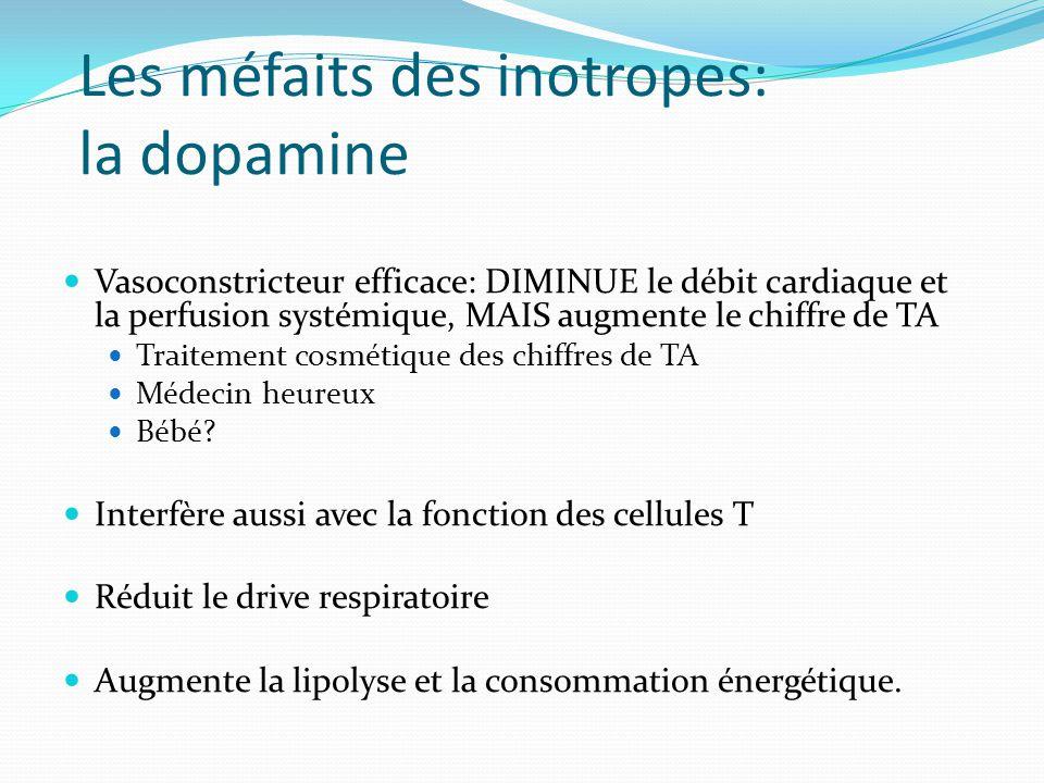 Les méfaits des inotropes: la dopamine