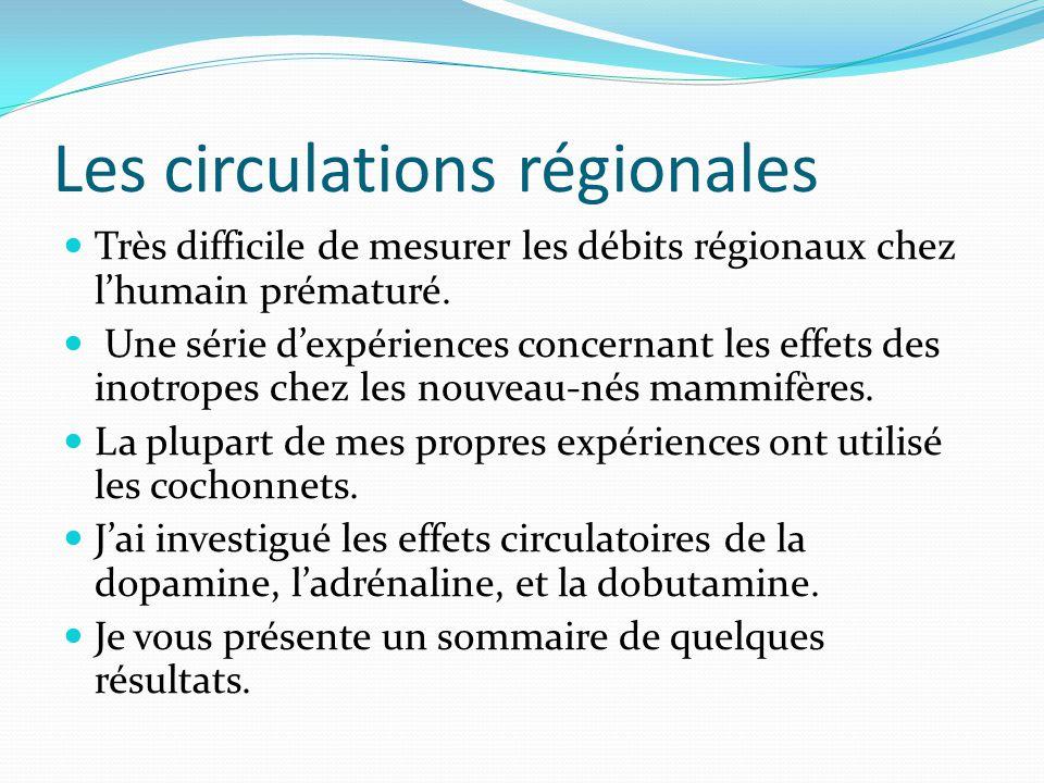 Les circulations régionales
