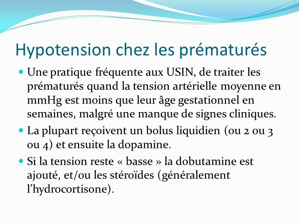 Hypotension chez les prématurés