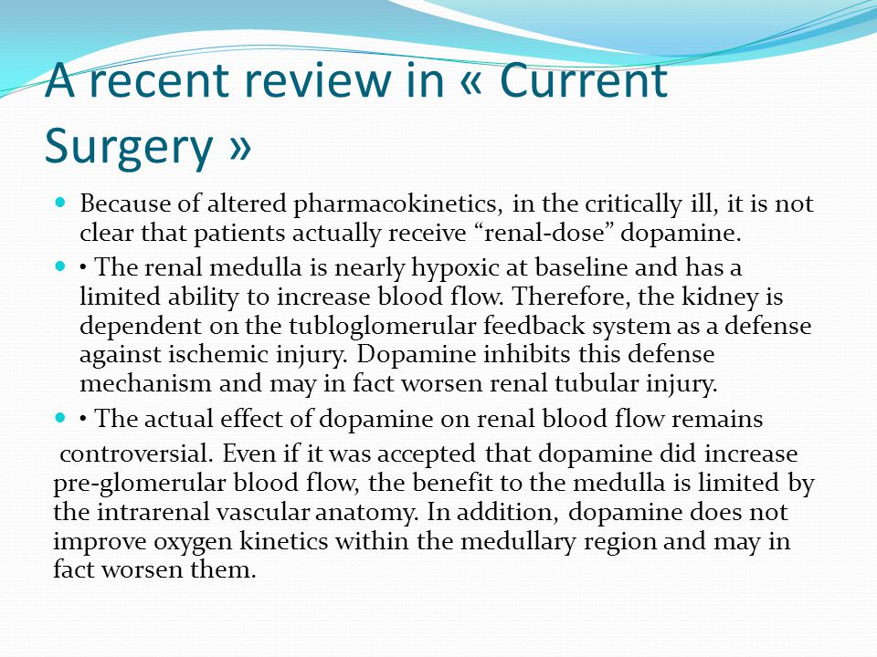 A recent review in « Current Surgery »