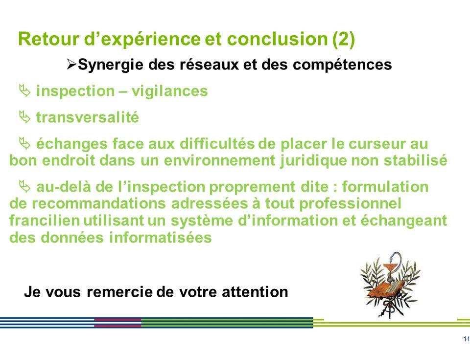 Retour d'expérience et conclusion (2)