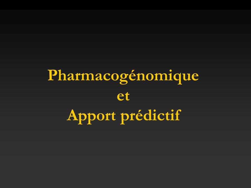 Pharmacogénomique et Apport prédictif
