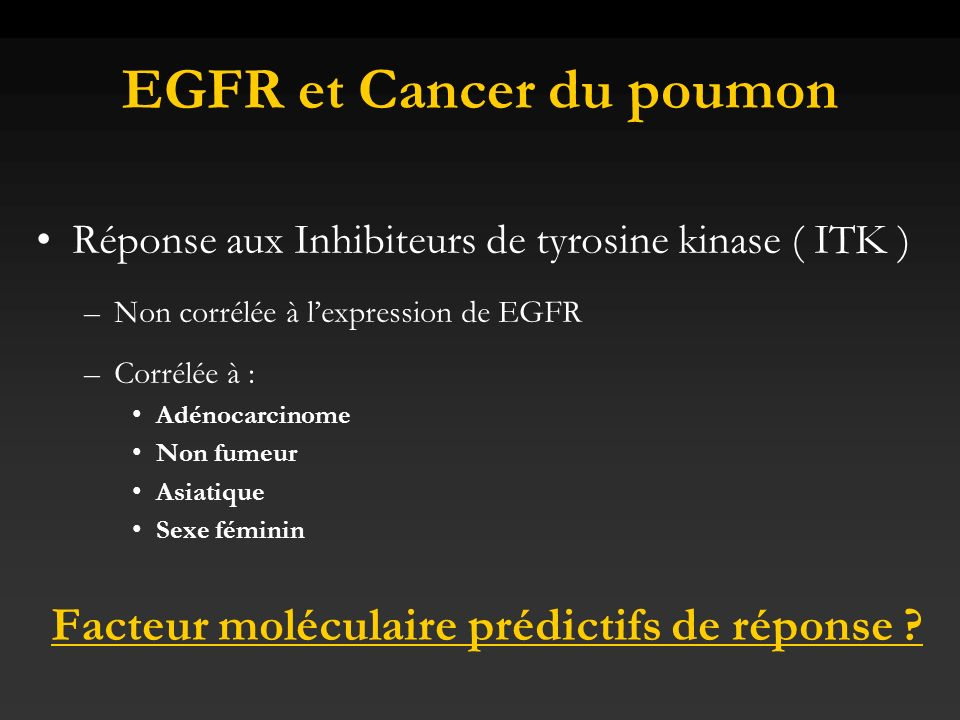 EGFR et Cancer du poumon
