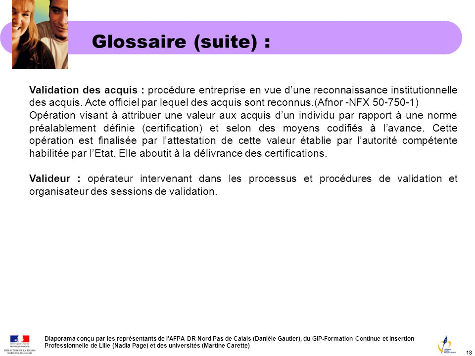 Glossaire (suite) :