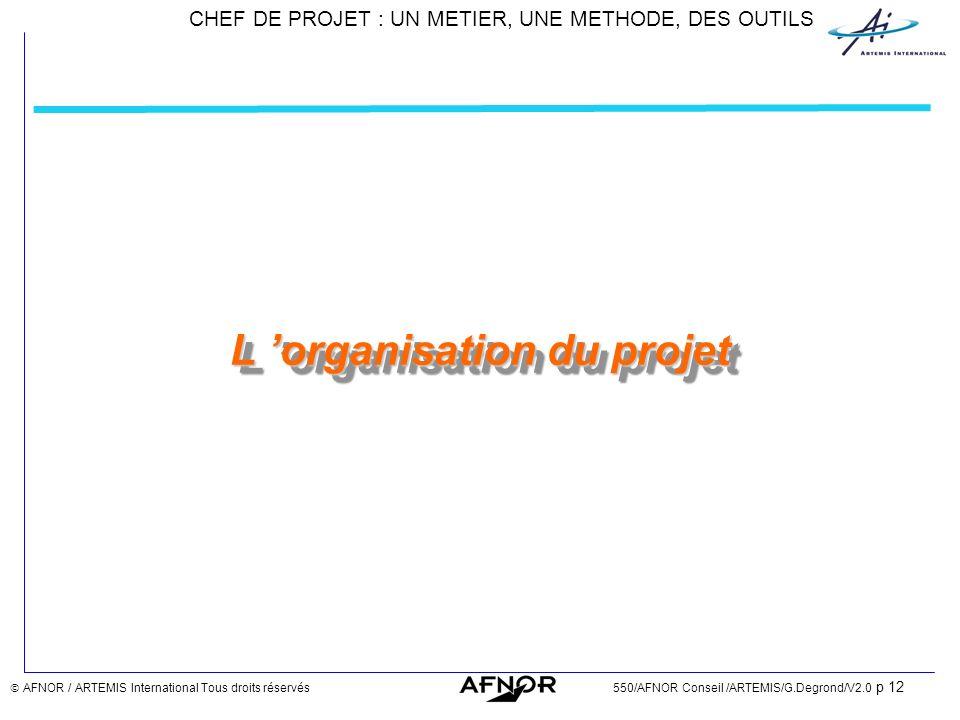 L 'organisation du projet