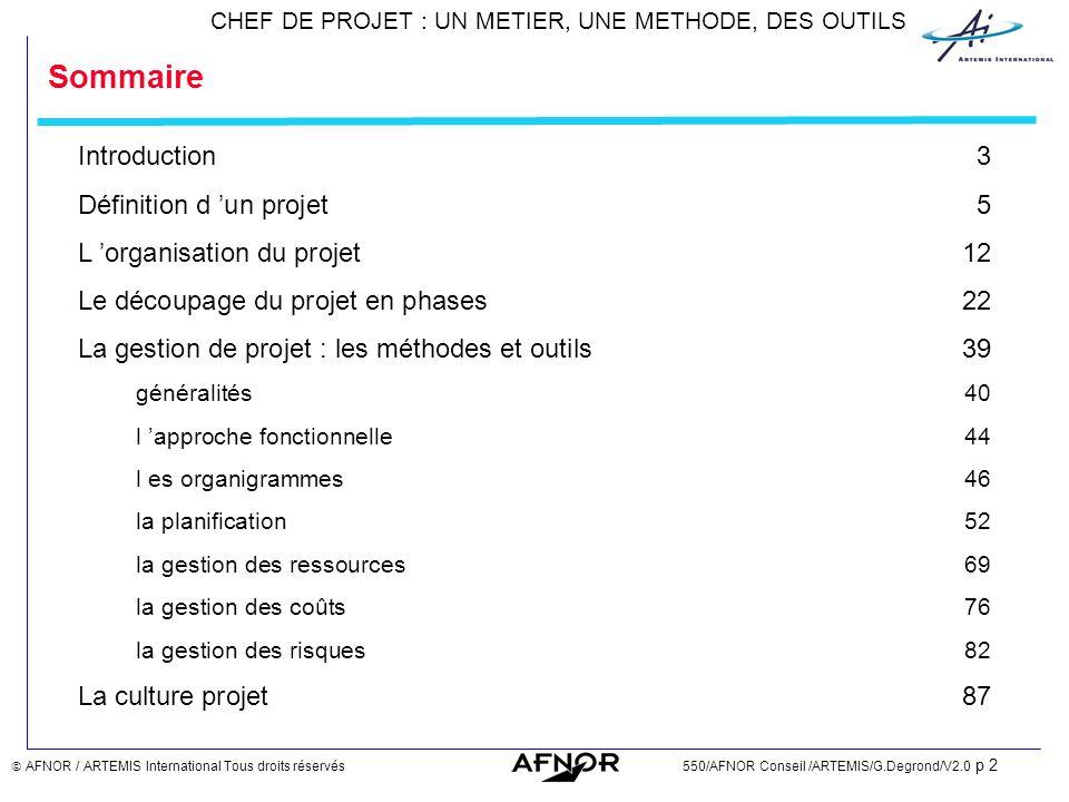Sommaire Introduction 3 Définition d 'un projet 5