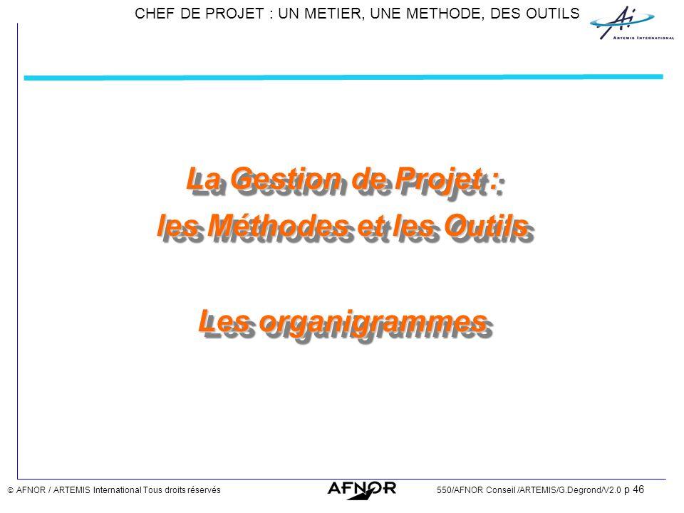 La Gestion de Projet : les Méthodes et les Outils Les organigrammes
