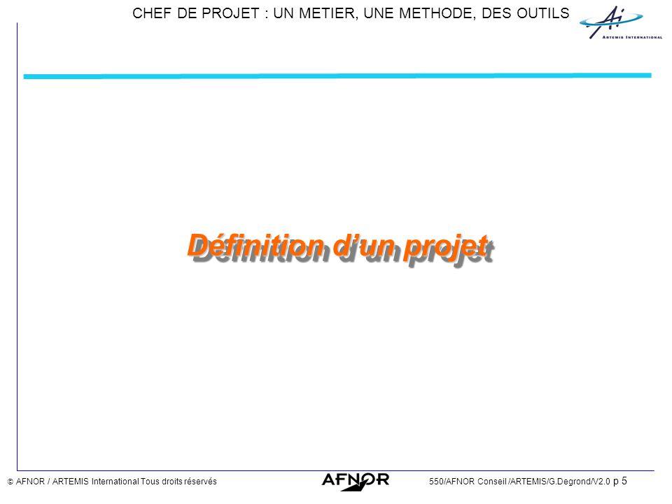 Définition d'un projet