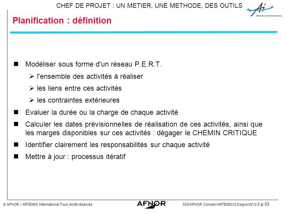 Planification : définition