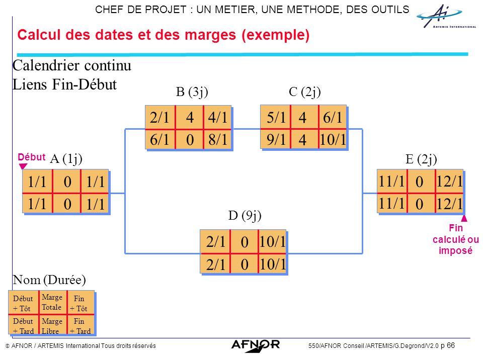 Calcul des dates et des marges (exemple)
