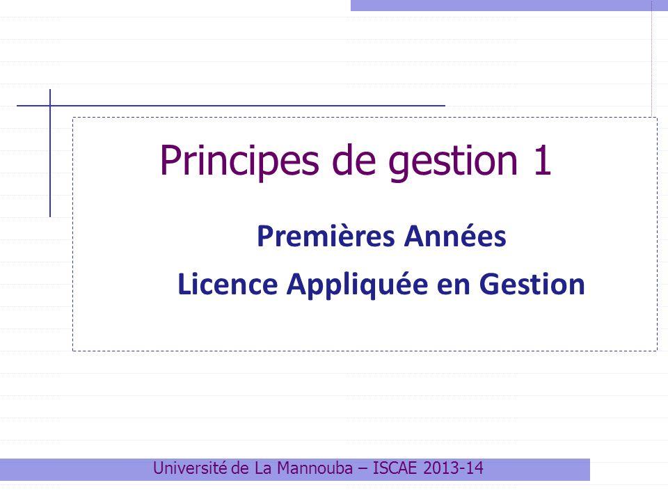 Premières Années Licence Appliquée en Gestion
