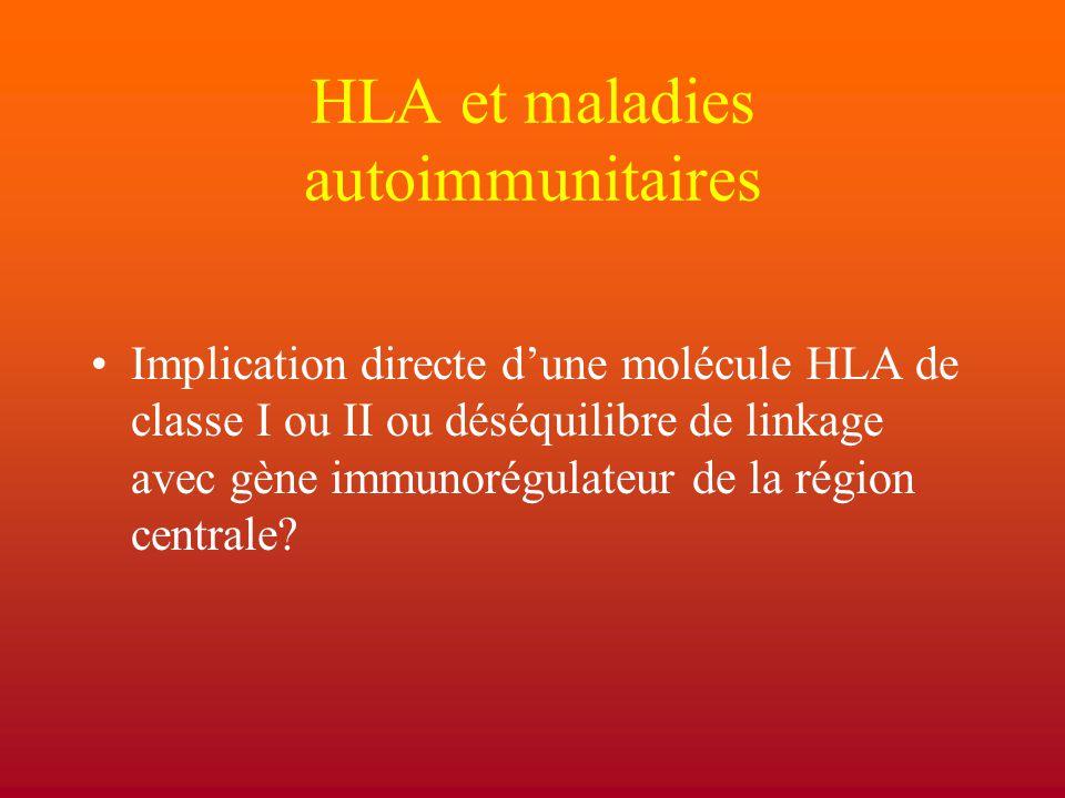 HLA et maladies autoimmunitaires
