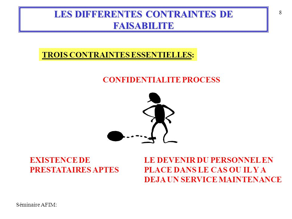 LES DIFFERENTES CONTRAINTES DE
