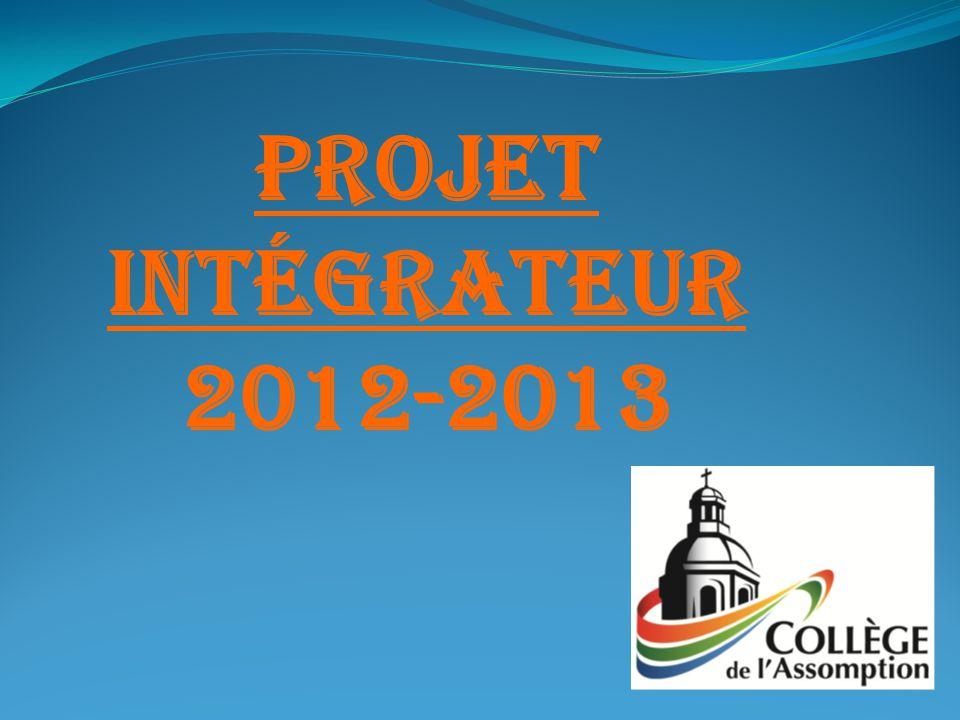 Projet intégrateur 2012-2013