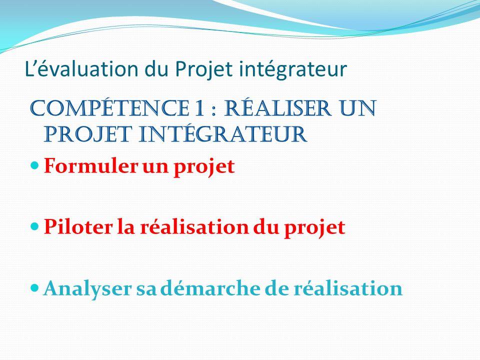 L'évaluation du Projet intégrateur