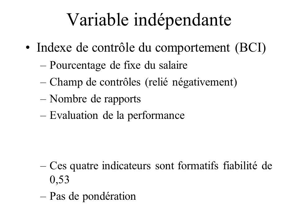 Variable indépendante