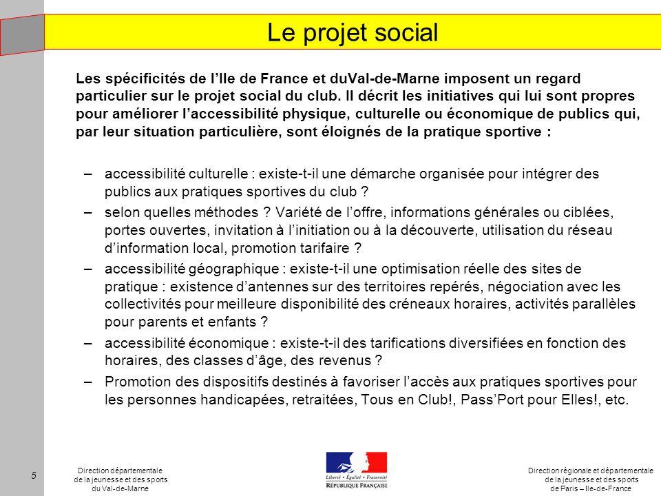 Le projet social