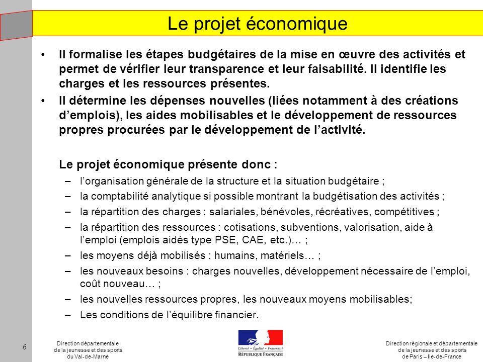 Le projet économique