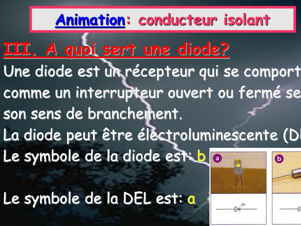 Animation: conducteur isolant