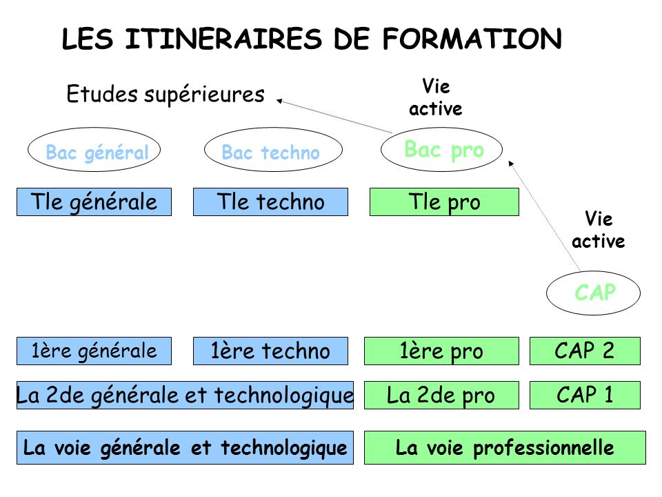 LES ITINERAIRES DE FORMATION