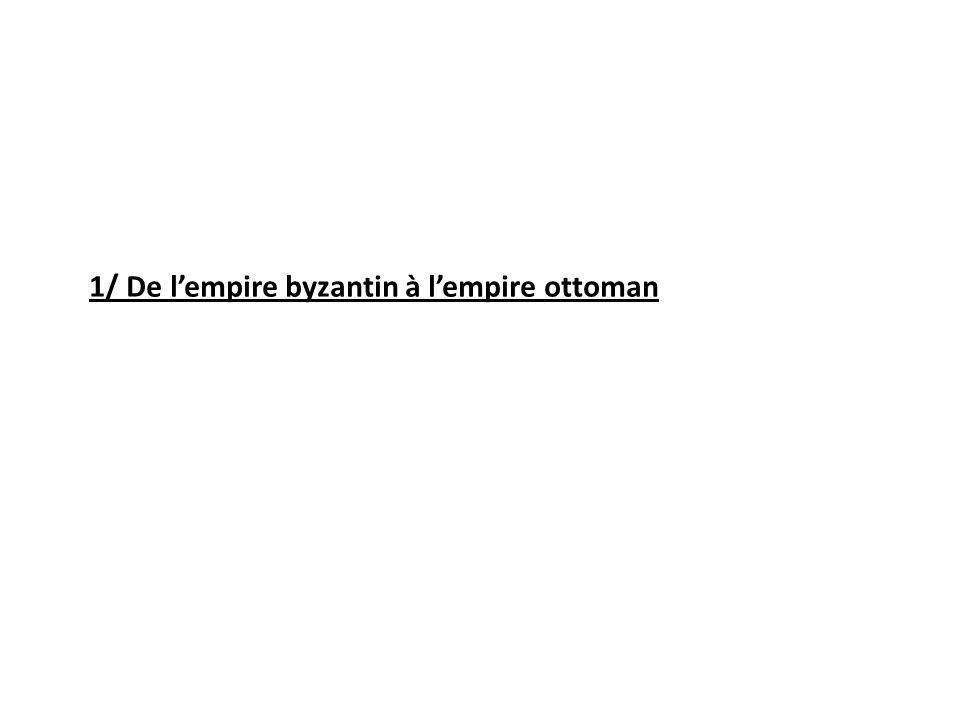 1/ De l'empire byzantin à l'empire ottoman