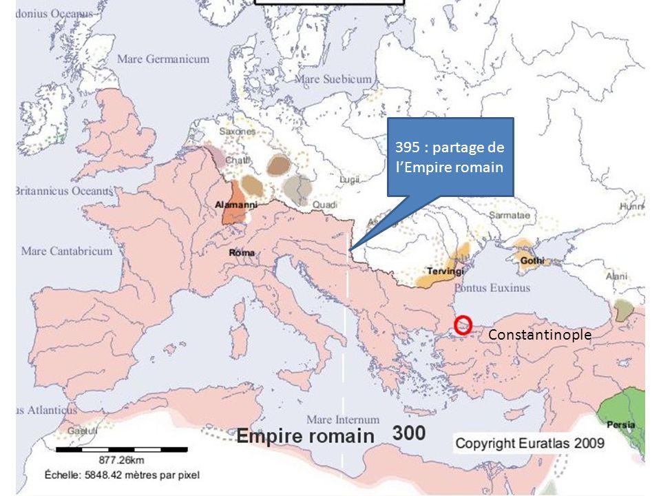 395 : partage de l'Empire romain