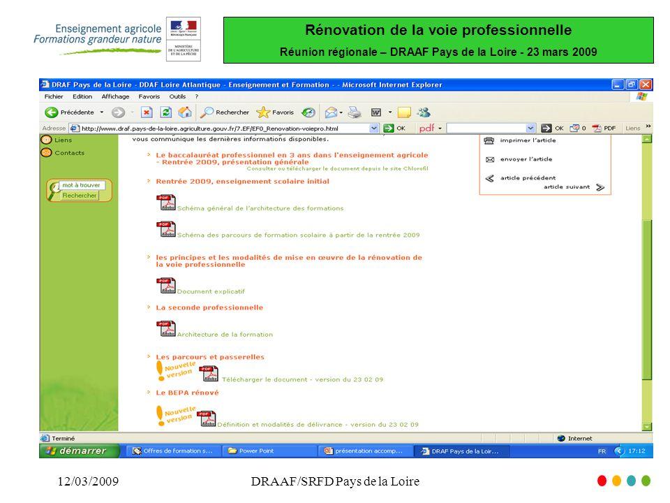 DRAAF/SRFD Pays de la Loire