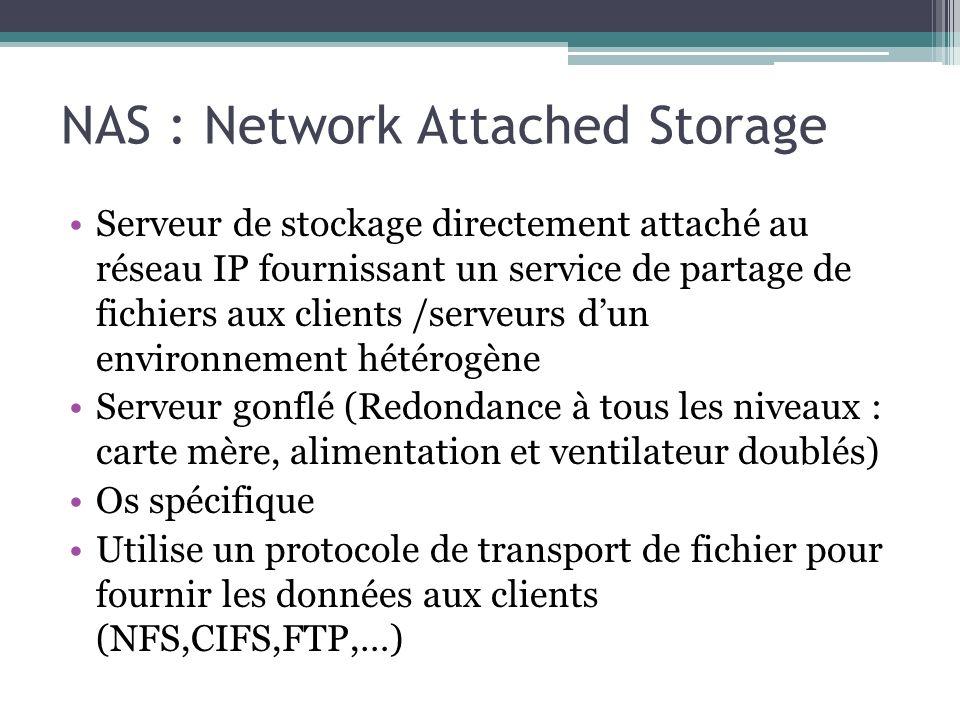 NAS : Network Attached Storage