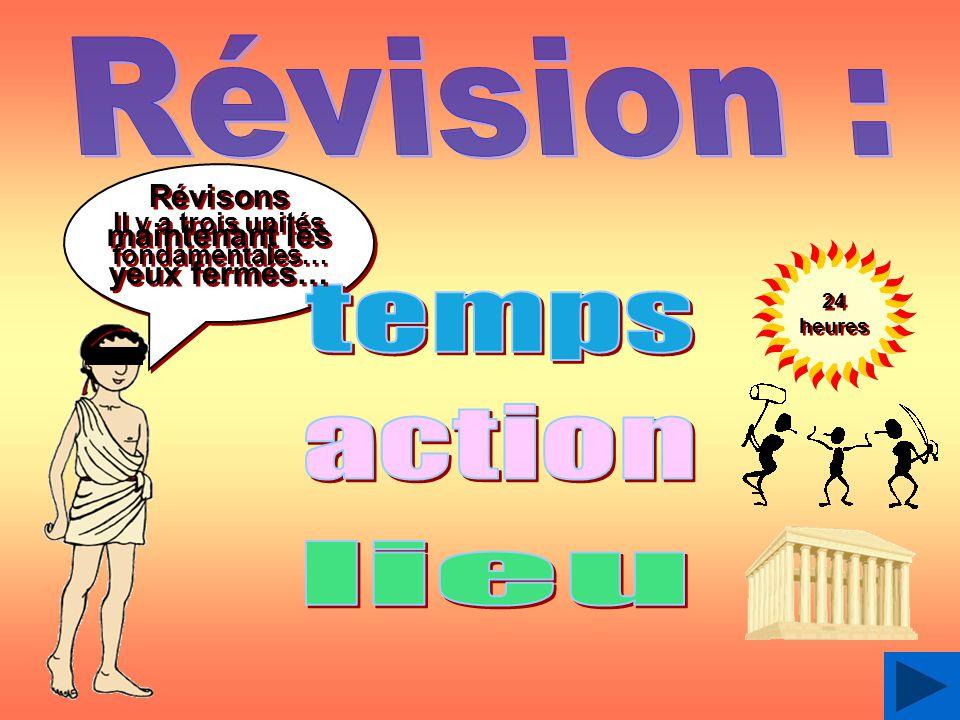 Révision : temps action lieu Révisons maintenant les yeux fermés…
