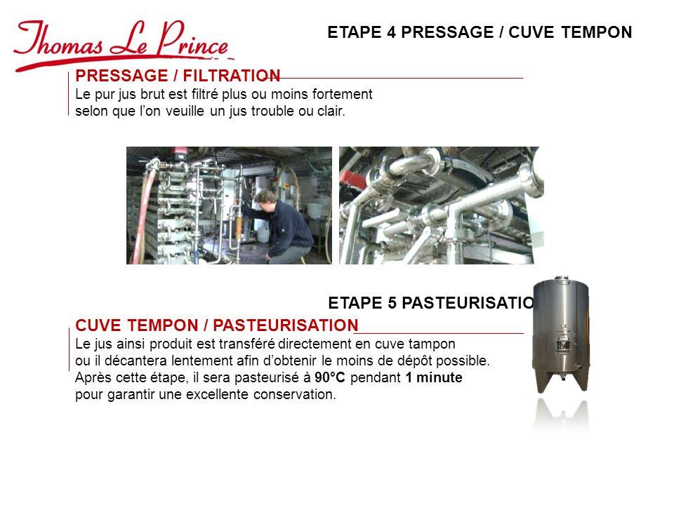 ETAPE 4 PRESSAGE / CUVE TEMPON
