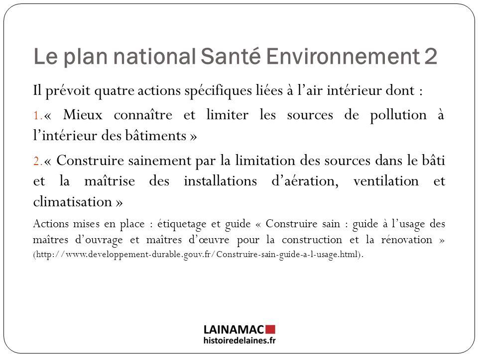 Le plan national Santé Environnement 2