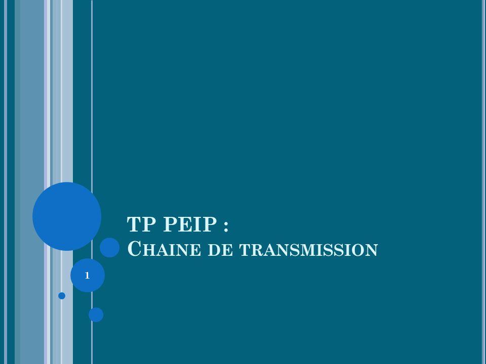 TP PEIP : Chaine de transmission