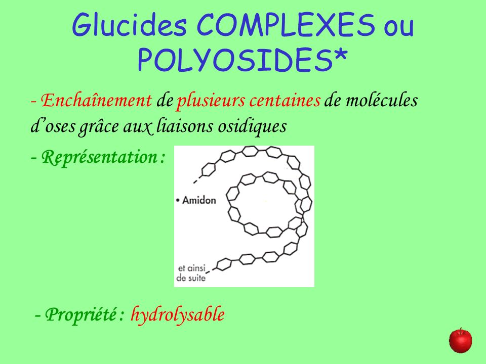 Glucides COMPLEXES ou POLYOSIDES*