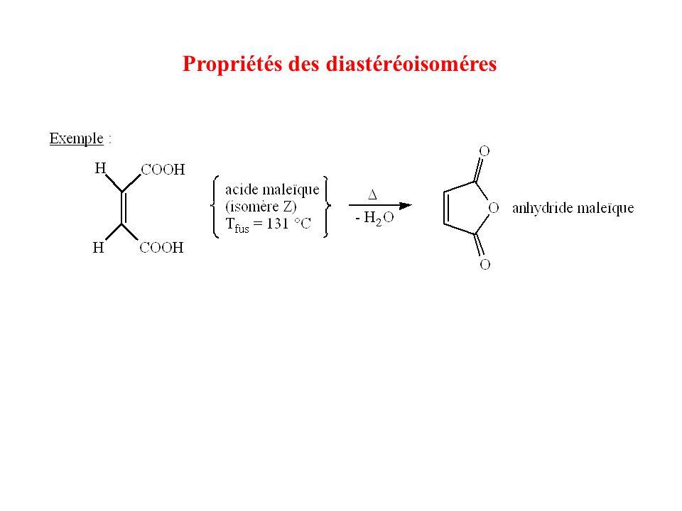 Propriétés des diastéréoisoméres