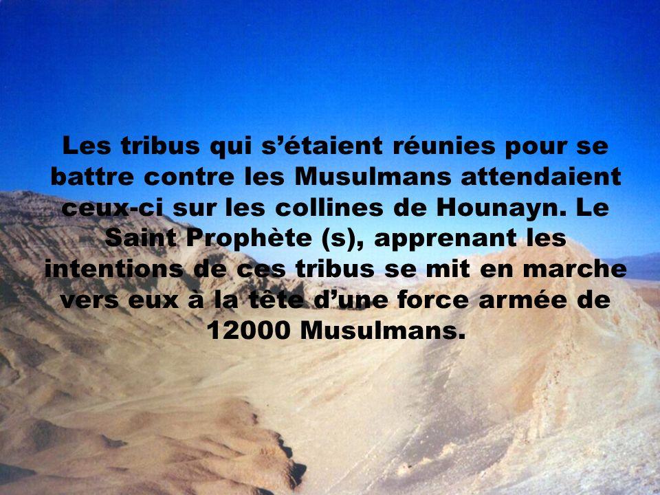 Les tribus qui s'étaient réunies pour se battre contre les Musulmans attendaient ceux-ci sur les collines de Hounayn.
