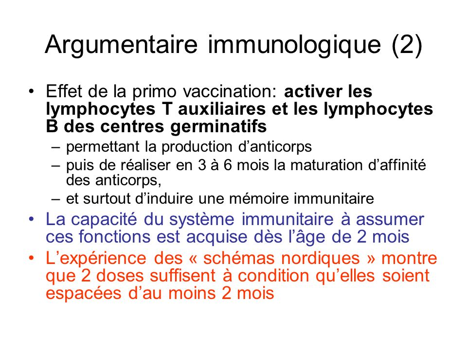 Argumentaire immunologique (2)