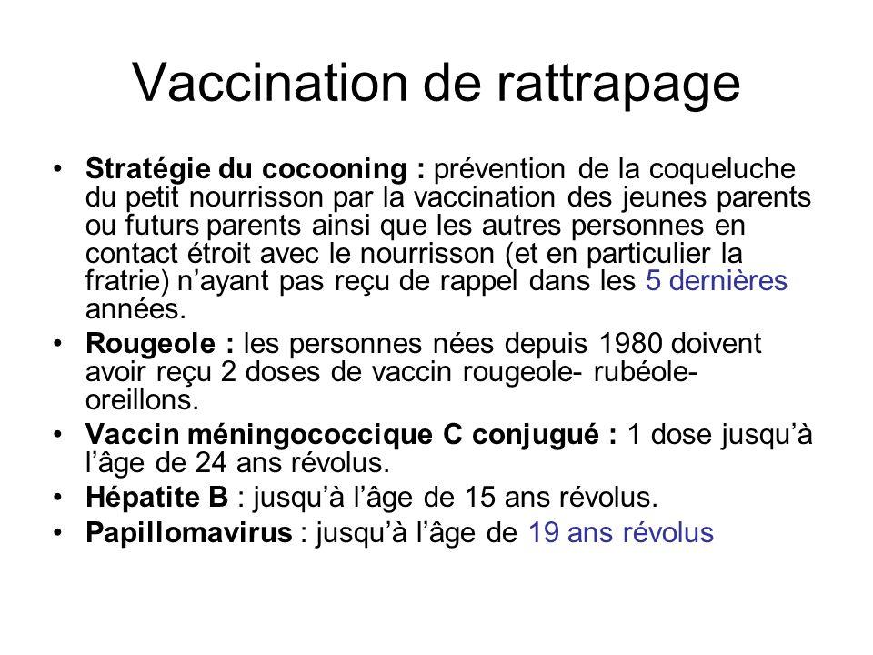 Vaccination de rattrapage