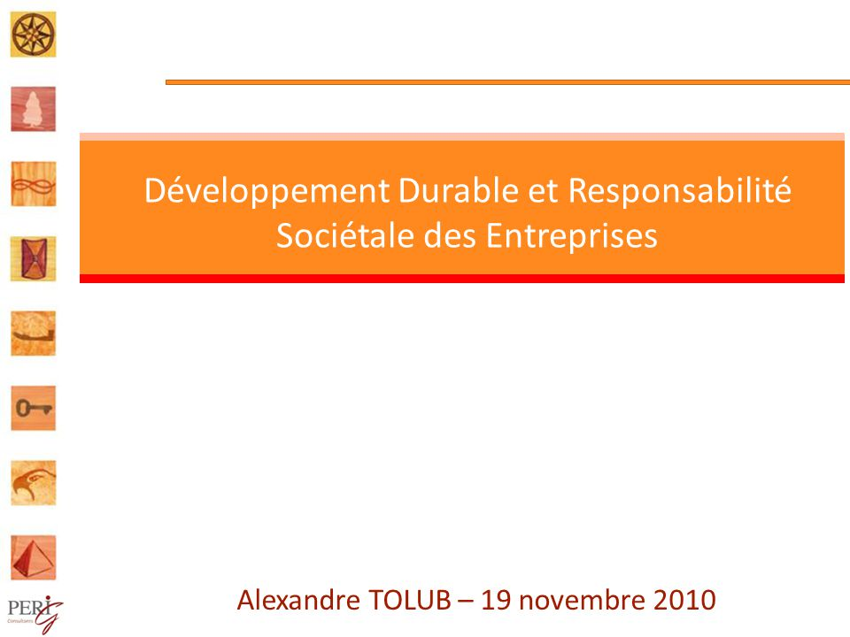 Développement Durable et Responsabilité Sociétale des Entreprises