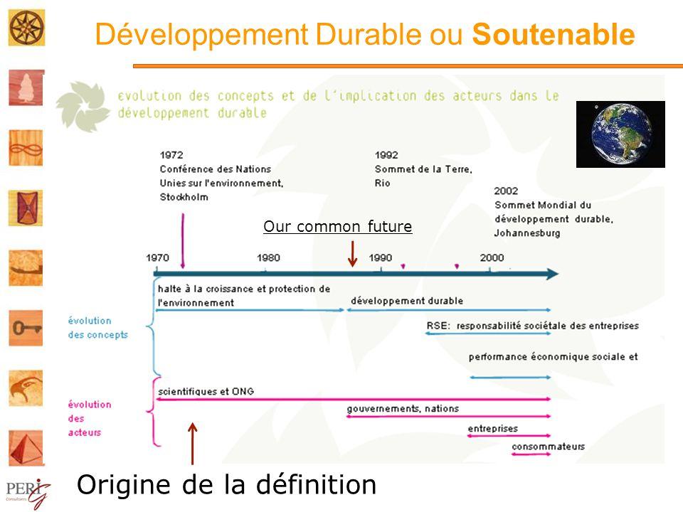 Développement Durable ou Soutenable