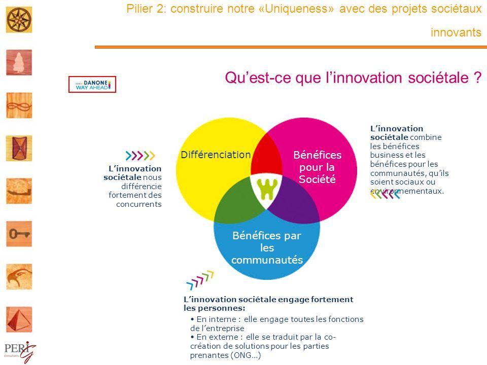 Pilier 2: construire notre «Uniqueness» avec des projets sociétaux innovants Qu'est-ce que l'innovation sociétale