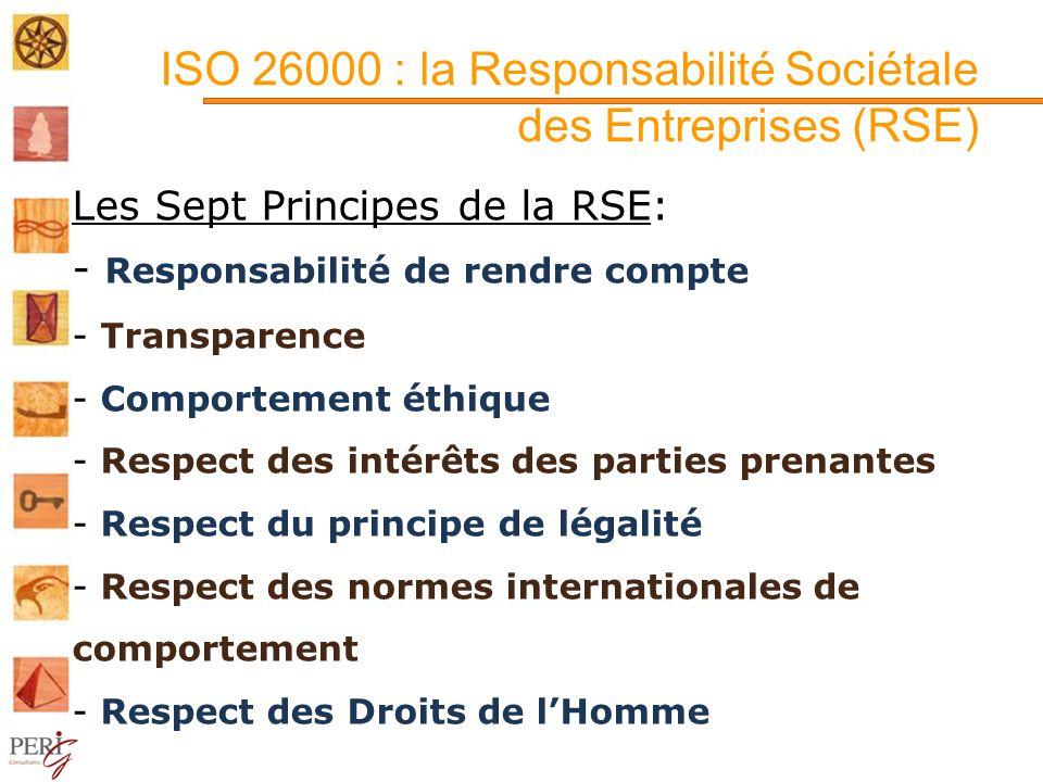 ISO 26000 : la Responsabilité Sociétale des Entreprises (RSE)